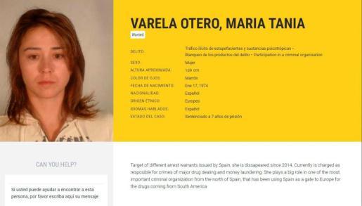 Imagen tomada de la web de Europol de la abogada María Teresa Varela Otero.