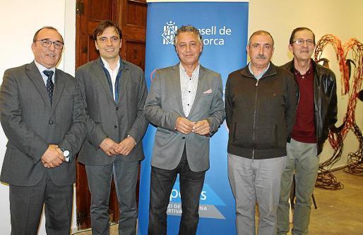 Jordi Mulet, Francesc Miralles, Xisco Barceló, Tomeu Marí y Tito López.