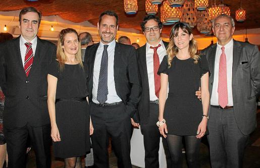 Alberto Lasheras, Annalisa Ridches, Alfredo Arias, Esteve Ribas, Joana Jaume y Pere Ollers.