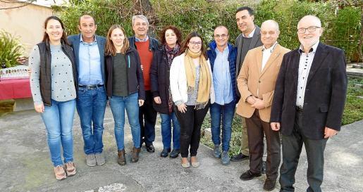 Sara Luque, Santi Mayol, Marga Forteza, Toni Pons, Margalida Paris, Elionor Pérez, Miquel Valls, Jaume Servera, Tolo Oliver y Guillem Bernat.
