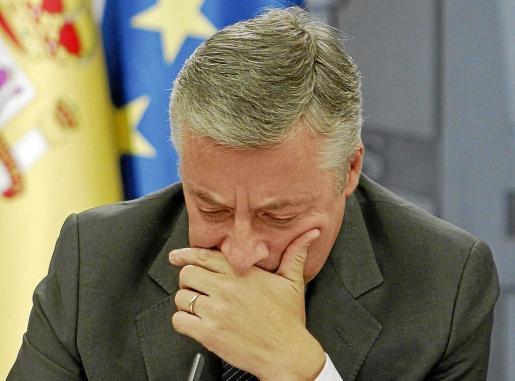 José Blanco, durante su comparecencia ante los medios tras el último Consejo de MInistros de esta legislatura.