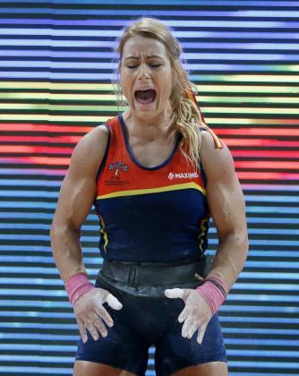 La española Lydia Valentín consiguió este sábado en Bucarest su cuarto título europeo de halterofilia.