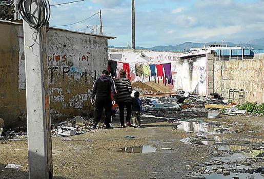 El poblado chabolista tiene cerca de 40 años de existencia.