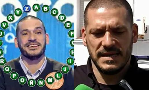 Dos imágenes de Luis Esteban, uno de su paso por el programa 'Pasapalabra', y otra, atendiendo a los medios, tras el tiroteo.