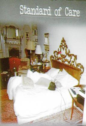 La cama de Jackson se aportó como prueba.