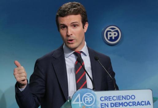 El vicesecretario de Comunicacin del PP, Pablo Casado.