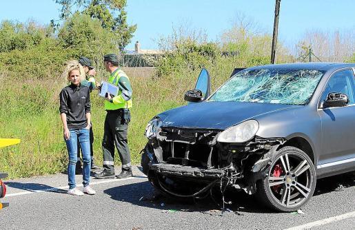 La conductora que arrolló a un pelotón de ciclistas, el jueves, en Capdepera.