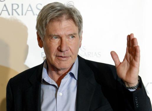 Harrison Ford ha derrochado encanto durante la presentación de su última película.