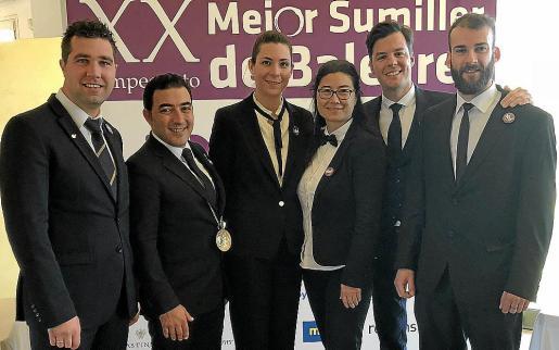 Gabriele Putignano, Javier Gómez, Juliana González, Aina Hölsting, Gabriel Lucas y Cliff Amengual.