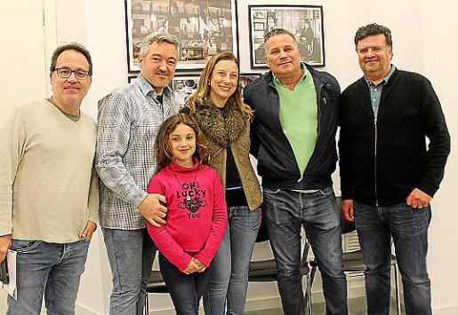 Javi Matesanz, Carlos y Sara Moreno, Eva Janakieff, Tony Obrador y Jaume Salom.