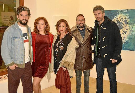 Carlos Iglesias, Teresa Ases, Sofía Blanca, Javier Barco y José Luis Ceña.