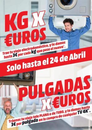 La campaña 'Kg&Pulgadas por Euros' está disponible hasta el 24 de abril.