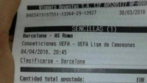 El dineral que perdió un apostante por la clasificación del Barça a semifinales