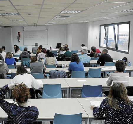 Imagen de un momento del inicio de la prueba escrita.