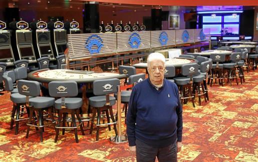 El empresario Rafael López, dueño del casino, se muestra muy ilusionado.