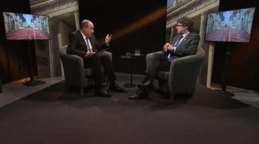 La entrevista al expresidente lideró las cifras de la parrilla televisiva este domingo en Cataluña.