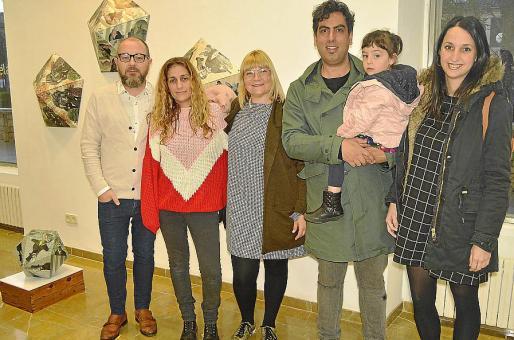 David Campaner, Mar Agüera, Queta, David Martín con Gala y Lorena de Gracia.