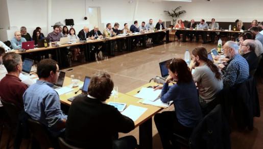 Uno reunión del Consell de Govern de la UIB en la que se trató el caso Minerval.