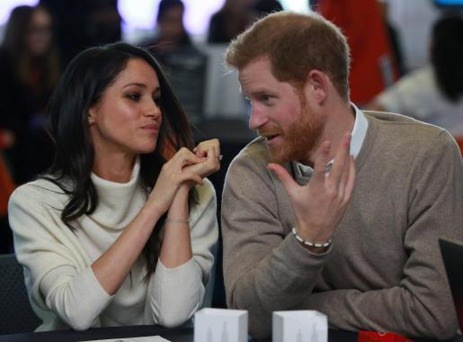 El Principe Enrique de Inglaterra y Meghan Markle.