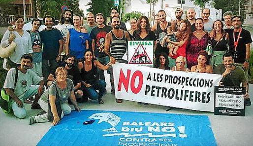 Protesta en Eivissa contra las prospecciones.
