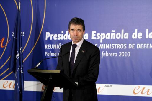 El secretario general de la OTAN, ayer en Palma.
