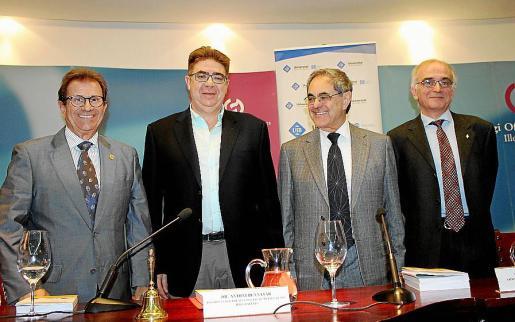 Llorenç Huguet, Antoni Bennàssar, Gabriel Janer Manila y Macià Tomàs.