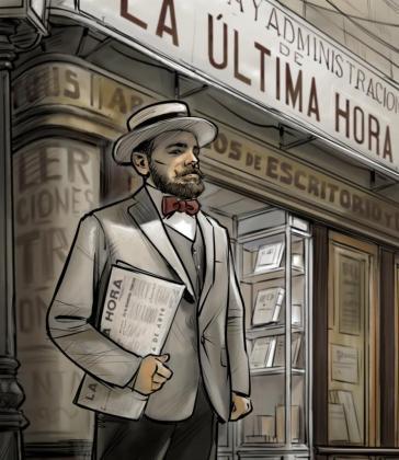 El joven José Tous fundó un pequeño negocio de papelería en el carrer de la Llum, al lado de la plaça de Cort. Montó una sencilla imprenta para confeccionar tarjetas de visita y material comercial. Con recursos tan sencillos, pero con una gran visión empresarial, fundó 'La Última Hora'.
