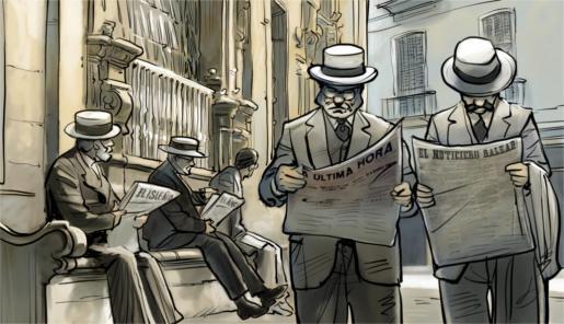 La prensa del siglo XIX tenía un fuerte componente político. Las tiradas eran muy cortas, pues el analfabetismo afectaba al 76 % de los mallorquines.