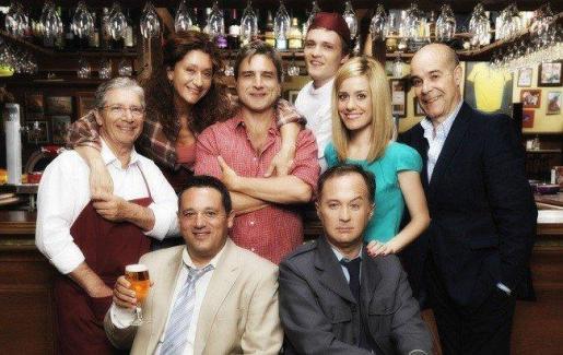 Fotograma de la serie 'Cheers' en versión española.