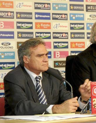 Biel Cerdà, durante una comparecencia ante los medios en el Iberostar Estadi.