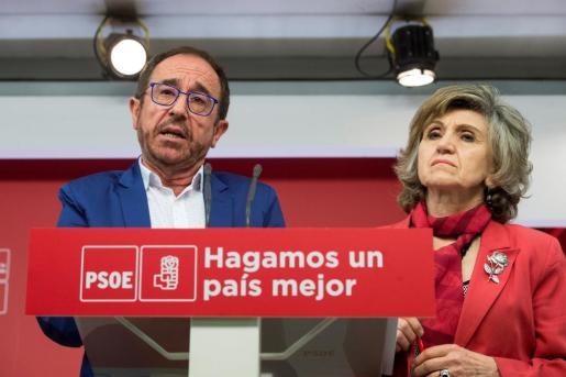 El secretario de Justicia y Nuevos Derechos, Andrés Perelló, y la secretaria de Sanidad, Luisa Carcedo.