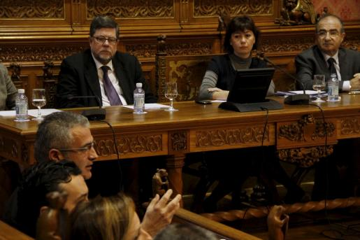 Imagen de la sesión extraordinaria celebrada hoy en el Consell de Mallorca.