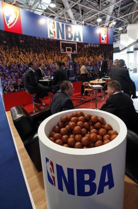 Un cartel de la NBA.