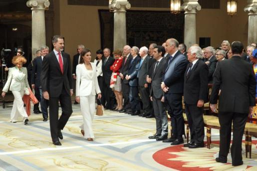 El rey Felipe y la reina Letizia durante un acto oficial.