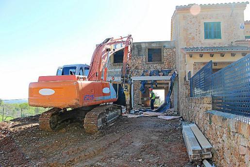Los trabajos de demolición del adosado se iniciaron en febrero de 2017.