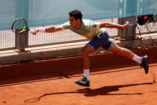 El tenista mallorquín Jaume Munar, durante el partido contra el rumano Marius Copil.