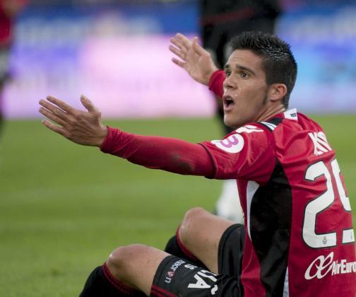 El defensa del Mallorca Kevin García Martínez, durante uno de los partidos disputados por su equipo el año pasado.