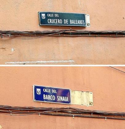 La placa de 'Crucero de Baleares' ha sido sustituida por la de 'Barco Sinaia'.