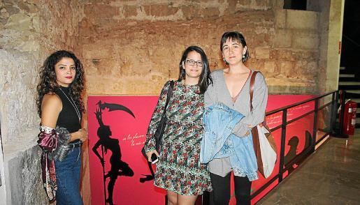 Paula Pla, Clara de la Torre y Raquel Delgado.