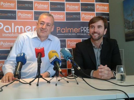 Boscana, junto a Vicente Palmer, en la rueda de prensa de este miércoles.