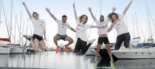 Patricia Bárcena, Sabrina Olmo, Raül Valls, Miguel Rosselló y Victoria Maldi se preparan para la carrera y una festiva jornada llena de solidaridad que se celebrará el próximo 6 de mayo.