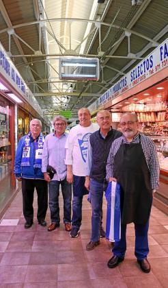 De izquierda a derecha: Toni Salas, Toni Garau, Vicente Soriano, Bernat Campins y Virgilio Izquierdo.