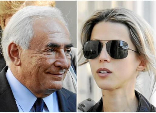 Fotografías de archivo de Dominique Strauss-Kahn y la periodista Tristane Banon. Fotos: REUTERS