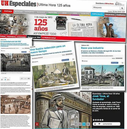 Distintos contenidos del especial del 1 de mayo en www.ultimahora.es.
