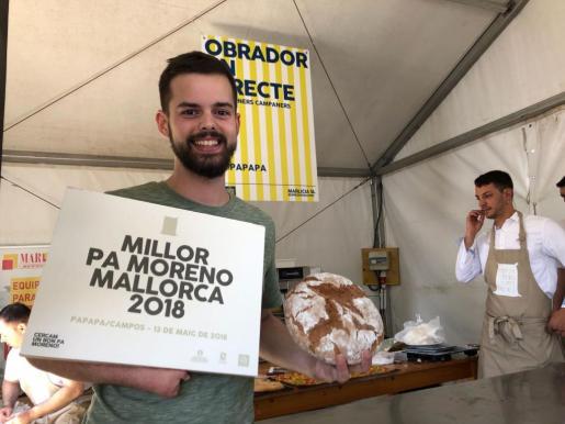 El panadero Toni Gelabert de la Pastisseria Real de Palma tras ganar el concurso,