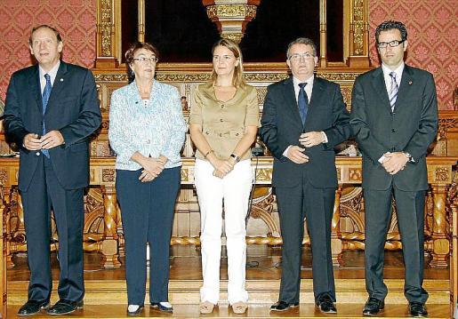 Miguel Àngel Vázquez, Mercè Boixareu, María Salom, Joan Rotger y Jaume Juan.