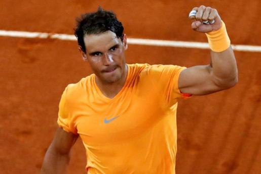 Rafael Nadal celebra una victoria en el pasado Masters 1.000 de Madrid.