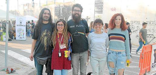 Pedro Borrás, Laura de Luque, Toni M. Mauro, Simona Payeras y Catalina Mayol.