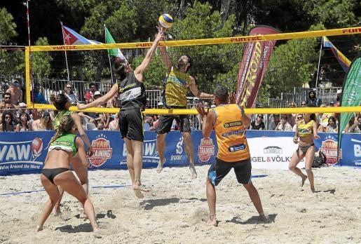 Imagen de la competición disputada en las playas de Palmanova y Magaluf a lo largo de este fin de semana.