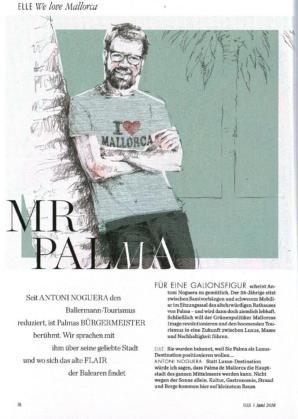 La versión alemana de Elle entrevista a Antoni Noguera al que llama 'Mr Palma'.